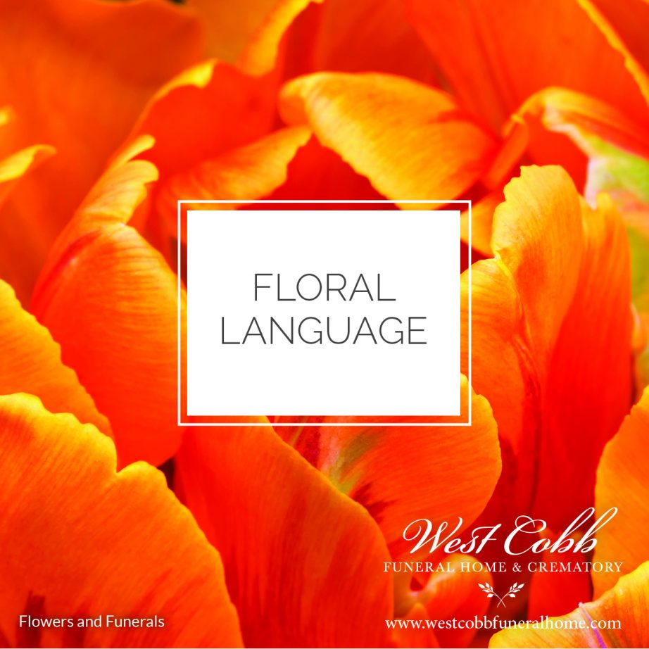 Flowers and Funerals, Floral Language